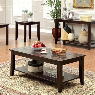Nicholle Transitional 3 Piece Coffee Table Set by Winston Porter