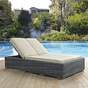 Brayden Studio Keiran Double Chaise Lounge with Cushion