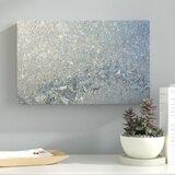 «Frost Pattern Sun Stars» par Kurt Shaffer - Reproduction de photographie sur toile tendue