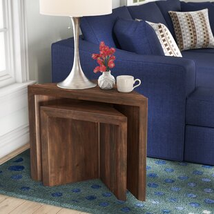 Helen Rustic Wood Nesting Tables