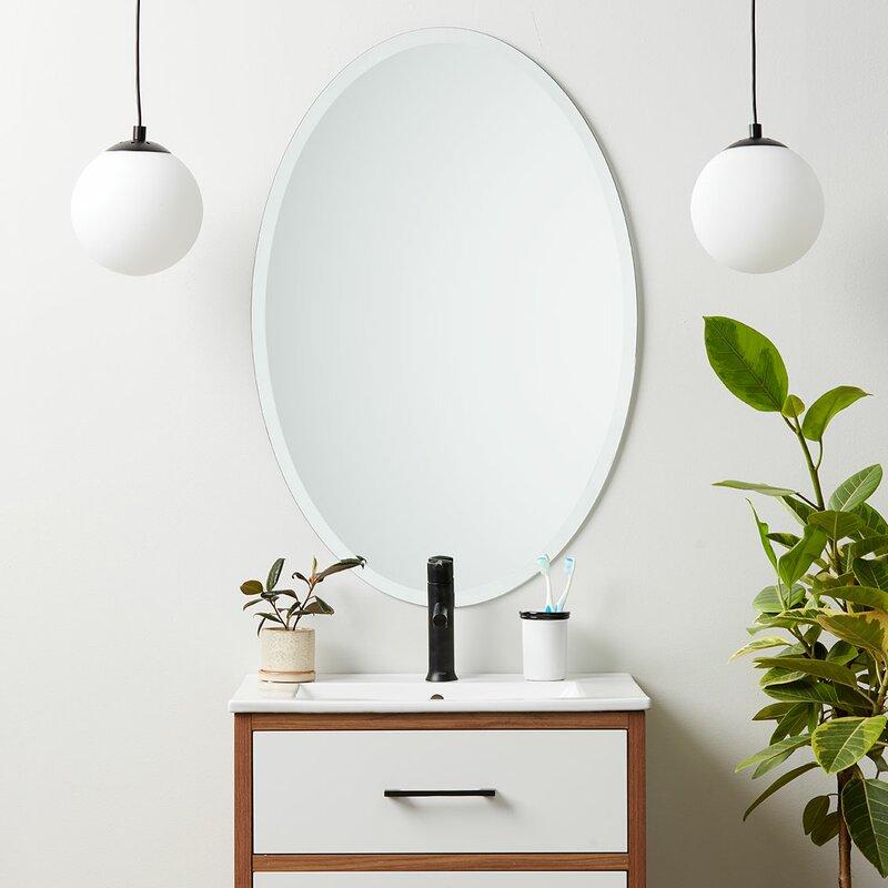 Orren Ellis Provenzano Modern Contemporary Beveled Wall Mirror Reviews Wayfair