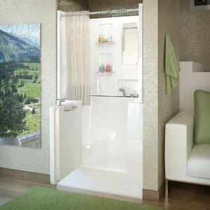 shower and soaking tub combo. Mesa 40  x 31 Soaking Bathtub Tub Shower Combo Wayfair