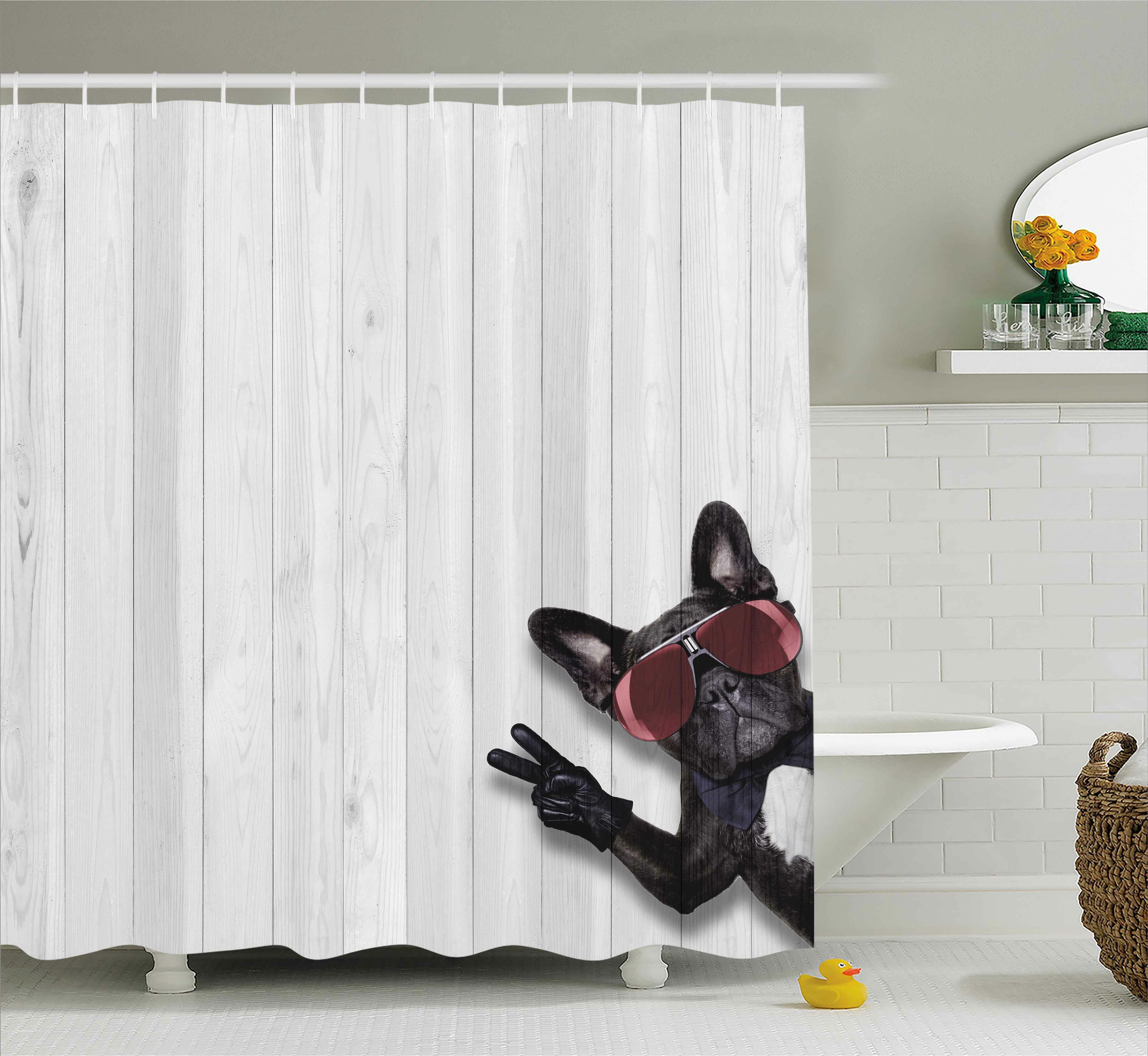 East Urban Home Animal Husky Dog Peace Sign Shower Curtain