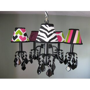 Silly Bear Lighting Wild Child Mix and Match 5-Light Shaded Chandelier