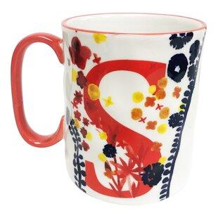 Erwin Floral 'S' Initial Coffee Mug