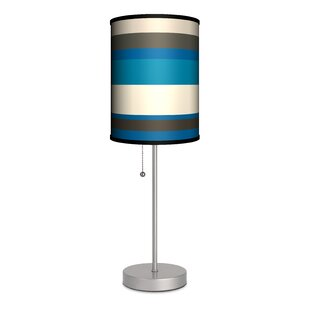 Reviews Sova Stripes 20 Table Lamp By Latitude Run
