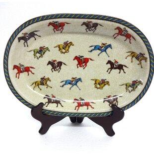 Halterman Jockey Horse Porcelain Accent Tray