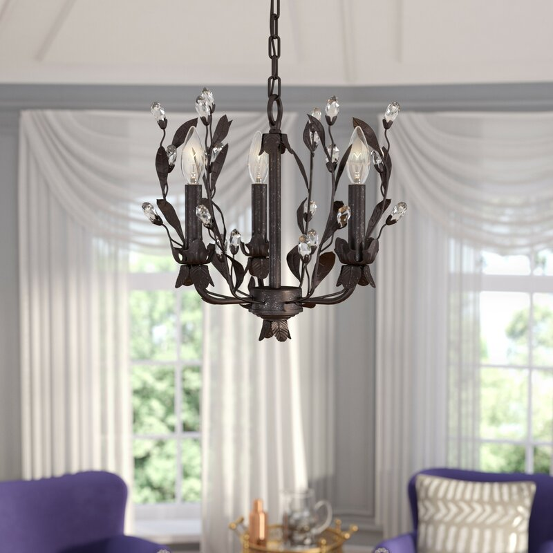 Giovanna 3 Light Mini Chandelier. Glam Chandeliers You ll Love   Wayfair