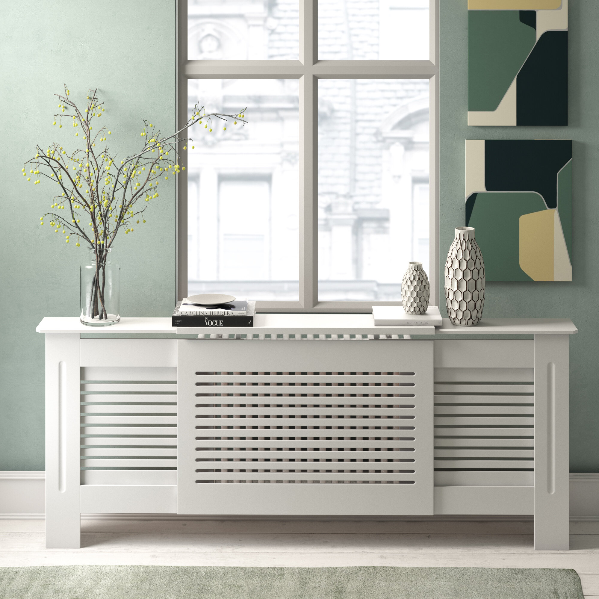 Belfry Heating Humberto Extra Large Radiator Cover Reviews Wayfair Co Uk