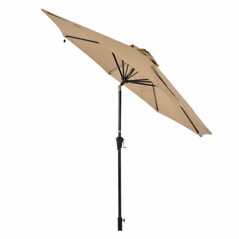 Sears 8 7 X Lighted Market Umbrella