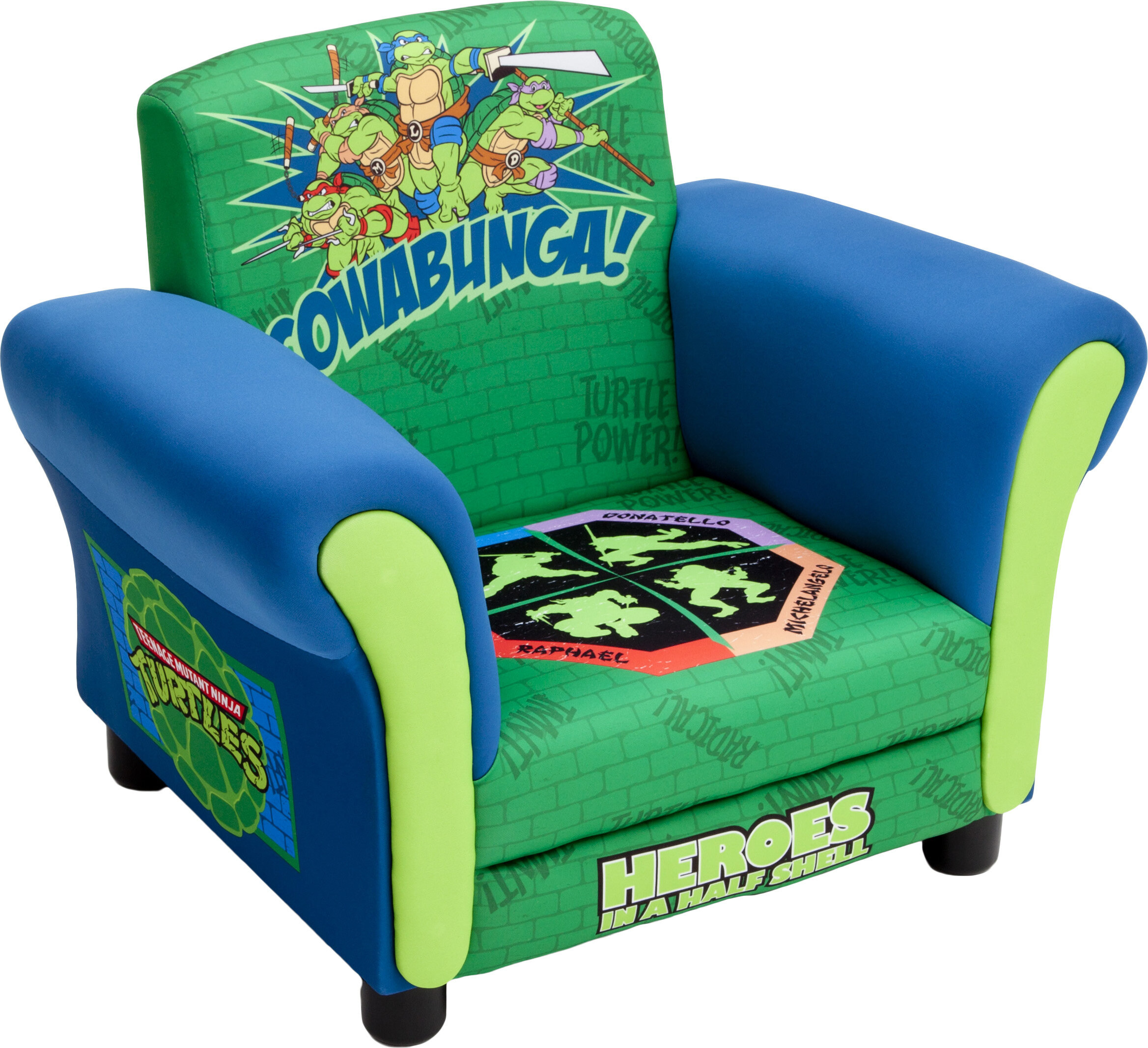 Delta Children Ninja Turtles Kids Upholstered Club Chair U0026 Reviews | Wayfair