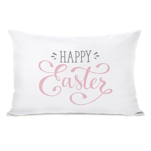 Happy Easter Bunnies Lumbar Pillow