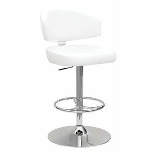 Maritza Adjustable Height Swivel Bar Stool Orren Ellis