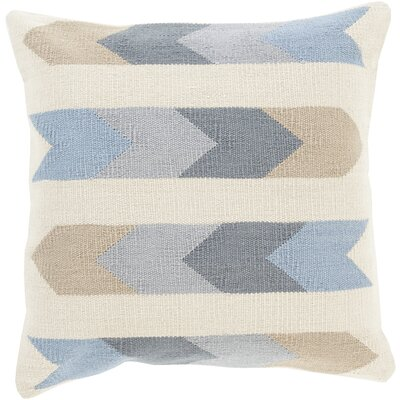 Turn on the Brights Lindel Cotton Throw Pillow Size: 20 H x 20 W x 1 D, Color: Neutral\Gray