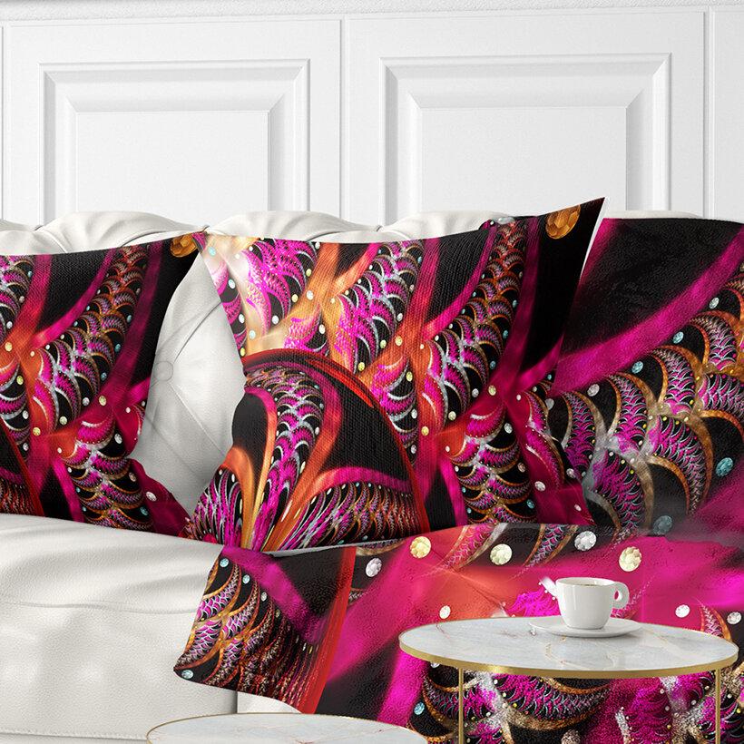 East Urban Home Abstract Unique Fractal Design Pattern Pillow Wayfair