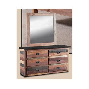 Look for Chiasson 6 Drawer Dresser with Mirror ByHarriet Bee