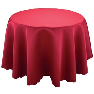 Sadie Red Round Table Cloth