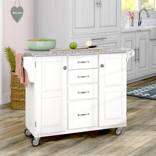 Adelle-a-Cart Kitchen Island with Granite Top by August Grove