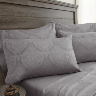 Darby Home Co Bevins Jacquard Damask 800 Thread Count 6 Piece Sheet Set