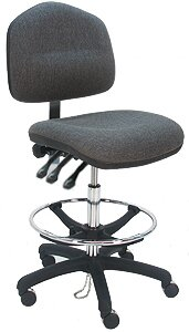 Ergonomic Cleanroom Lab Upholstered Drafting Chair