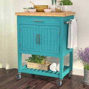 Matus Kitchen Cart Butcher Block Highland Dunes