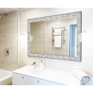 Wade Logan Scratched Wash White Trim Full Length Mirror