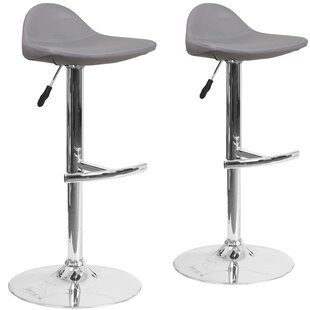 Reviews Nyberg Adjustable Height Swivel Bar Stool (Set of 2) by Orren Ellis