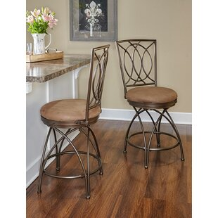 Darlington 24 Swivel Bar Stool by Fleur De Lis Living