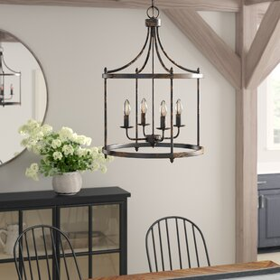 Gracie Oaks Mavis 4-Light Lantern Chandelier