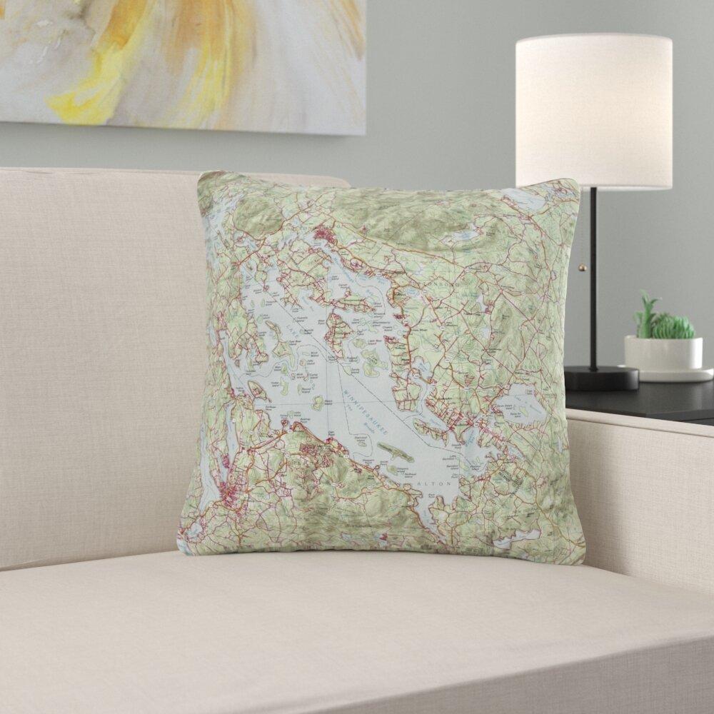 East Urban Home Lake Winnipesaukee Nh Non Corded Indoor Outdoor Throw Pillow Cover Wayfair