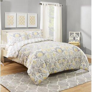 Hermina Cotton 3 Piece Reversible Comforter Set