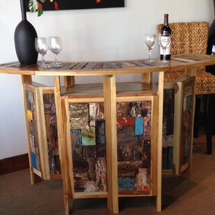 Loon Peak Barnes Teak Home Bar