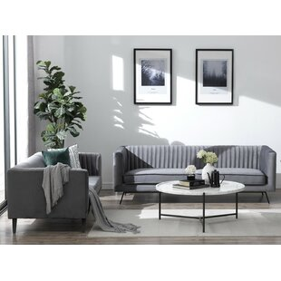 Compare prices Yorkshire 2 Piece Living Room Set (Set of 2) by Everly Quinn Reviews (2019) & Buyer's Guide