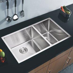 dCOR design Brier Double Bowl Kitchen Sink
