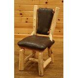 Fleetwood Upholstered Solid Wood Side Chair in Brown by Loon Peak®