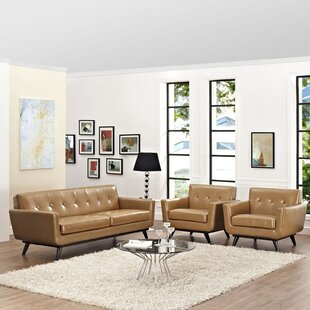 Saginaw Leather 3 Piece Living Room Set by Corrigan Studio