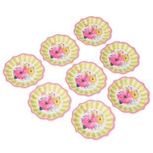 Flower Paper Dessert Plate (Set of 8)