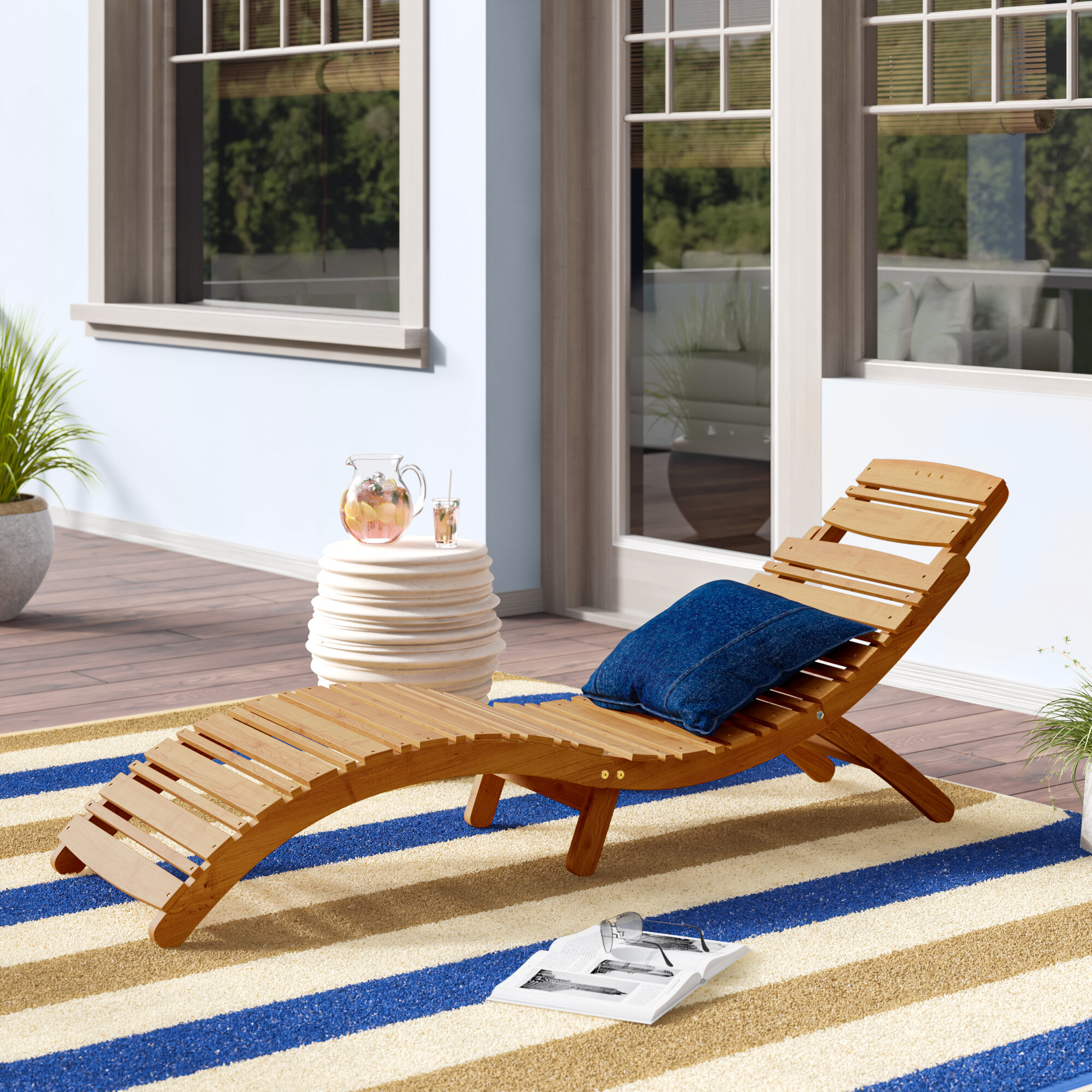 - Beachcrest Home Tifany Wood Outdoor Chaise Lounge & Reviews Wayfair