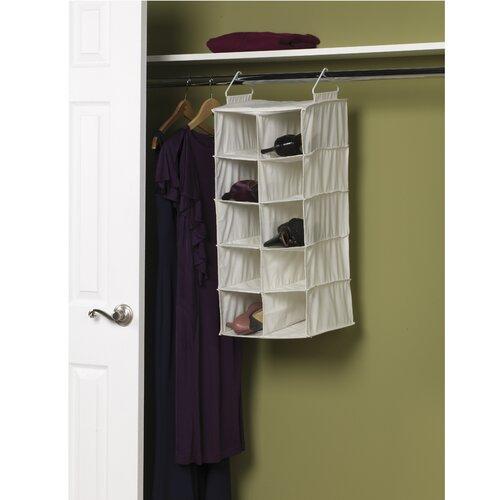 Burgundy 22 Pocket Closets Shoe Organizer Spacer Saver Hanging Closet Rod Pole