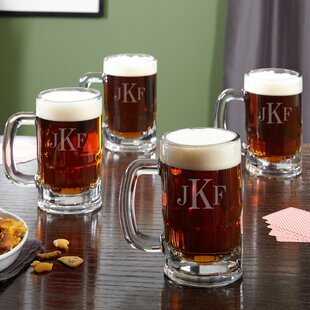 Benton Personalized Classic 14 oz. Beer Mug (Set of 4)