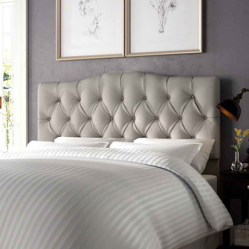 w auto quilted bedroom q at trim gray your in upholstered quilt headboards create adjustable overstock dream nailhead headboard flax fabric best format