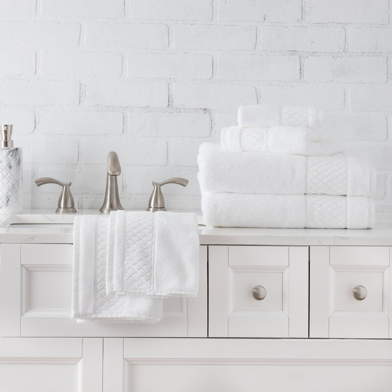 Bath Towel Set 6Pc Blended Egyptian 100/% Cotton Soft Absorbent Durable Heavyweig