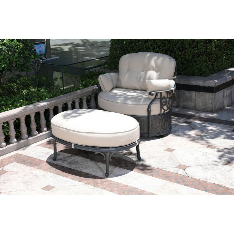 Charlton Home Ubaid Swivel Patio Chair