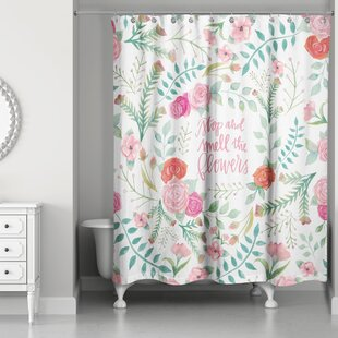 Cantor Smell the Flowers Single Shower Curtain