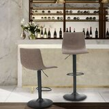 Alsey Ebern Designs Adjustable Height Swivel Bar Stool (Set of 2) by Ebern Designs
