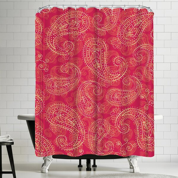 East Urban Home Crazy Paisley Shower Curtain