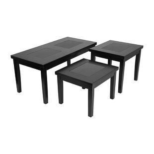 Winston Porter Rimini 3 Piece Coffee Table Set (Set of 3)