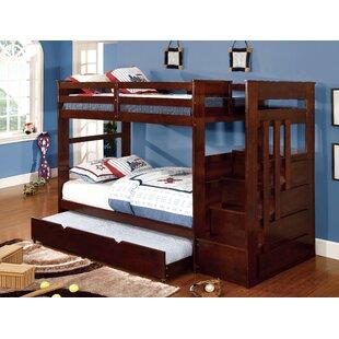 Comparison Monsiac Twin Bunk Bed with Storage ByHokku Designs