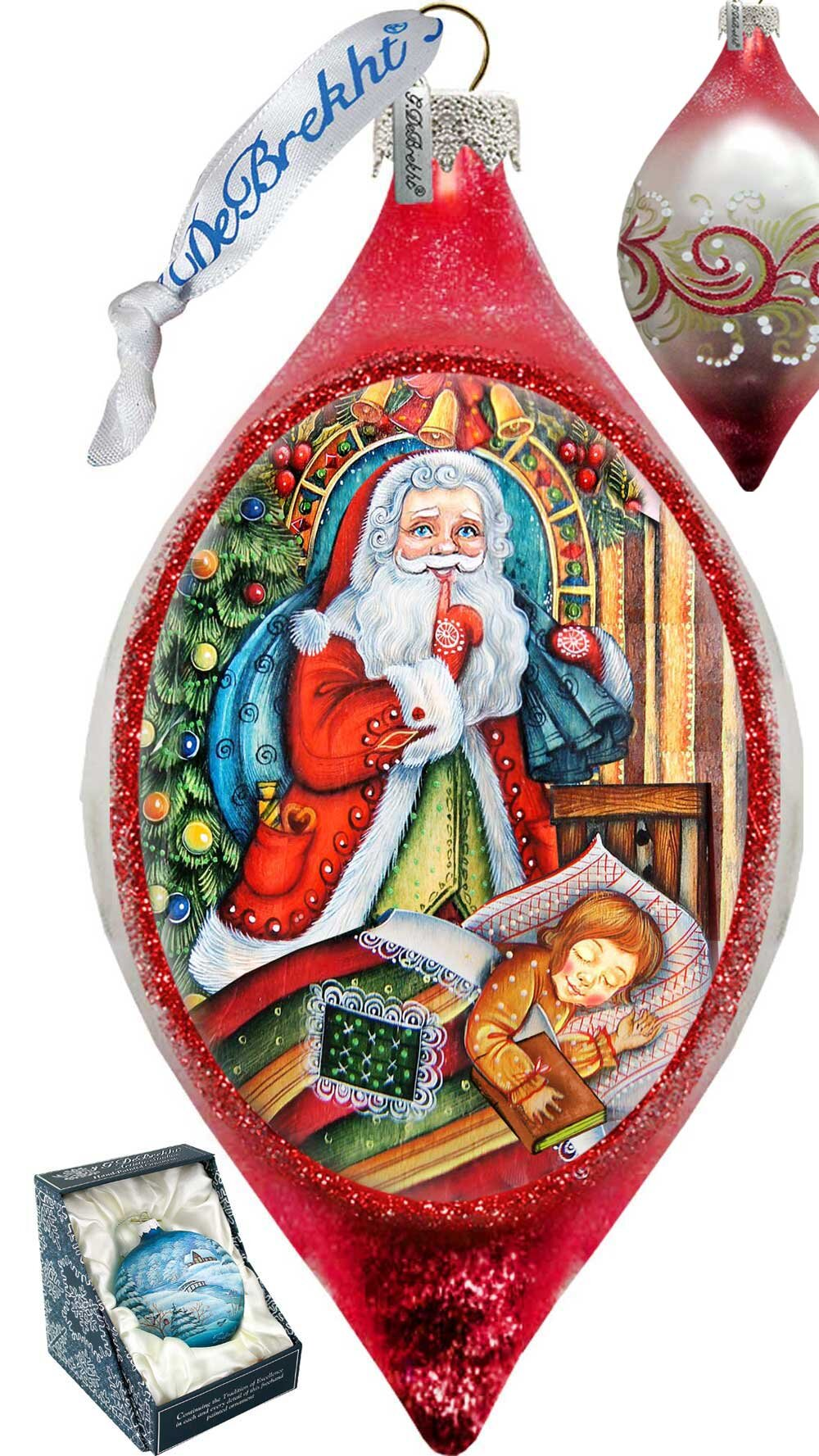 Finial Glass Santa Christmas Ornaments You Ll Love In 2021 Wayfair