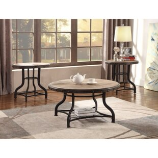 Catarina Solid Wooden 3 Piece Coffee Table Set